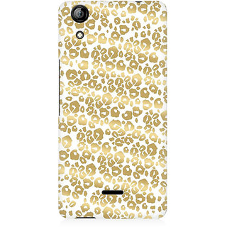 RAYITE Golden Cheetah Pattern Premium Printed Mobile Back Case Cover For Micromax Canvas Selfie 2 Q340