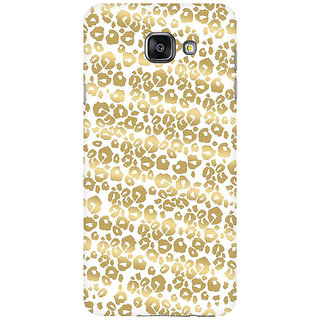 RAYITE Golden Cheetah Pattern Premium Printed Mobile Back Case Cover For Samsung A7 2016
