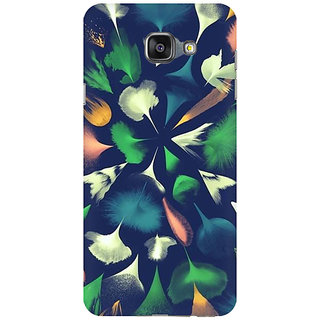 RAYITE Colourful Feathers Premium Printed Mobile Back Case Cover For Samsung A7 2016