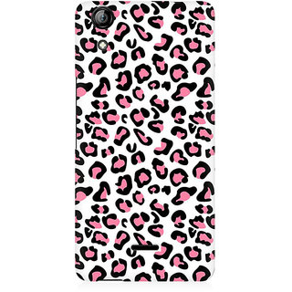RAYITE Pink Cheetah Pattern Premium Printed Mobile Back Case Cover For Micromax Canvas Selfie 2 Q340