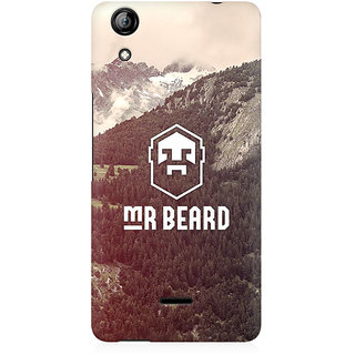 RAYITE Mr Beard Premium Printed Mobile Back Case Cover For Micromax Canvas Selfie 2 Q340