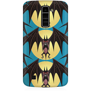 RAYITE Bat Pattern Premium Printed Mobile Back Case Cover For LG K7