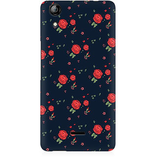 RAYITE Rose Pattern Premium Printed Mobile Back Case Cover For Micromax Canvas Selfie 2 Q340