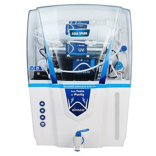 Kinsco Aqua Spark 15 Ltr RO + UV + UF + TDS Adjuster Water Purifiers