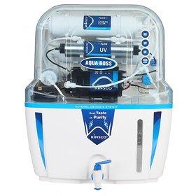 Kinsco Aqua Boss 15 Ltr RO + UV + UF Adjuster Water Purifiers