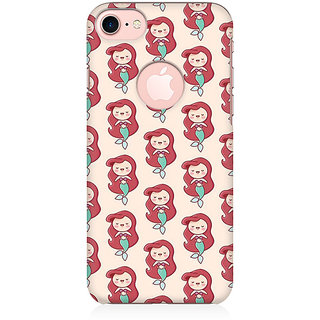 RAYITE Cute Mermaids Pattern Preum Printed Mobile Back Case Cover For   7 With Round Cut