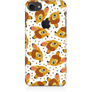 RAYITE Deer Pattern Premium Printed Mobile Back Case Cover For Apple IPhone 7 Apple Logo Cut
