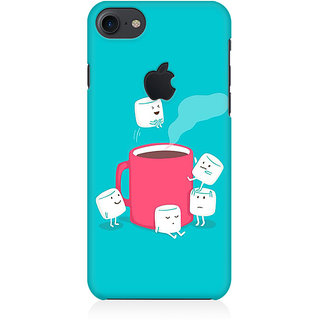 RAYITE Sugar Cube Coffee Premium Printed Mobile Back Case Cover For Apple IPhone 7 Apple Logo Cut