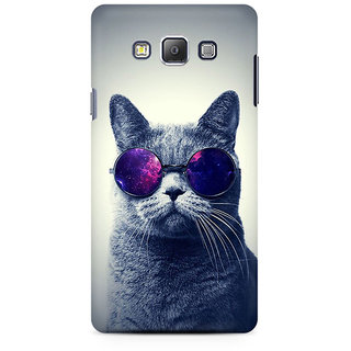 RAYITE Cool Cat Premium Printed Mobile Back Case Cover For Samsung A7