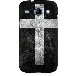 RAYITE Cross Print Premium Printed Mobile Back Case Cover For Samsung Core I8262