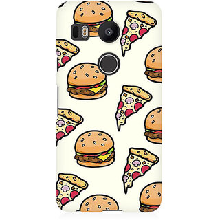 RAYITE Pizza Fast Food Premium Printed Mobile Back Case Cover For LG Nexus 5X