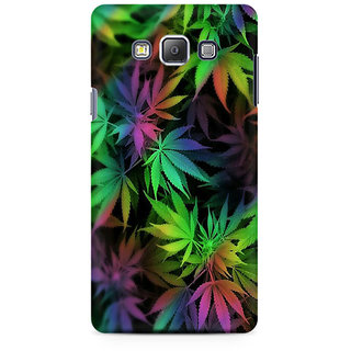 RAYITE Weed Leaf Premium Printed Mobile Back Case Cover For Samsung A7