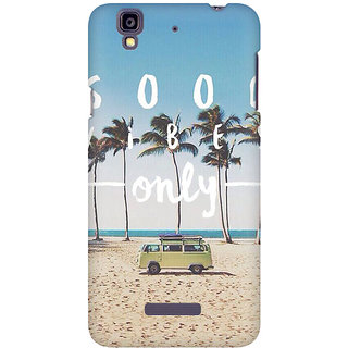 RAYITE Good Vibes Only Premium Printed Mobile Back Case Cover For Micromax Yureka
