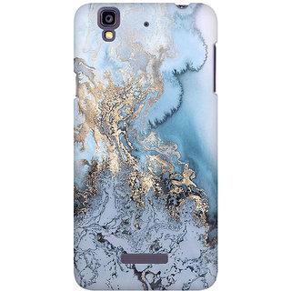 RAYITE Gold Sea Marble Premium Printed Mobile Back Case Cover For Micromax Yureka