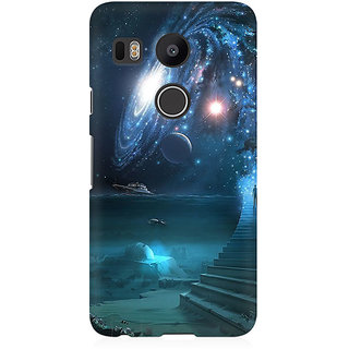 RAYITE Way To Galaxy Premium Printed Mobile Back Case Cover For LG Nexus 5X