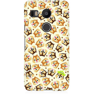 RAYITE Cute Chipmunks Premium Printed Mobile Back Case Cover For LG Nexus 5X