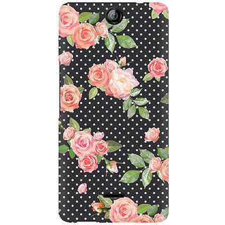 RAYITE Polka Dot Floral Premium Printed Mobile Back Case Cover For Micromax Canvas Juice 3 Q392