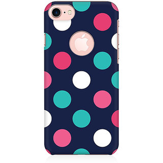 RAYITE Big Polka Dot Preum Printed Mobile Back Case Cover For   7 With Round Cut