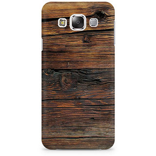 RAYITE Wood Abstract Premium Printed Mobile Back Case Cover For Samsung E5