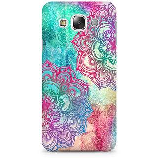 RAYITE Watercolor Mandala Premium Printed Mobile Back Case Cover For Samsung E5