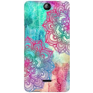 RAYITE Watercolor Mandala Premium Printed Mobile Back Case Cover For Micromax Canvas Juice 3 Q392