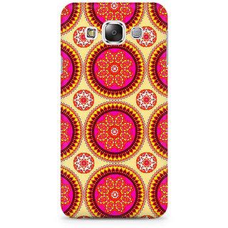 RAYITE Mandala Pattern Premium Printed Mobile Back Case Cover For Samsung E5