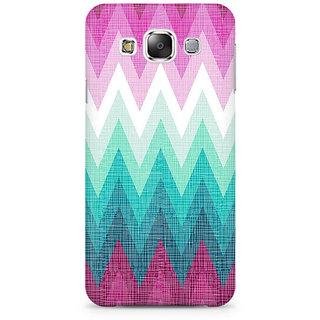 RAYITE Colourful Chevron Premium Printed Mobile Back Case Cover For Samsung E5
