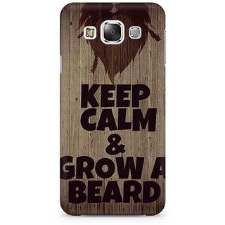 RAYITE Beard  Premium Printed Mobile Back Case Cover For Samsung E7