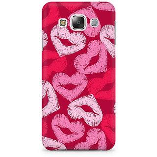 RAYITE Kisses Pattern Premium Printed Mobile Back Case Cover For Samsung E7