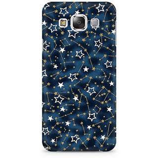RAYITE Golden Stars Pattern Premium Printed Mobile Back Case Cover For Samsung E7
