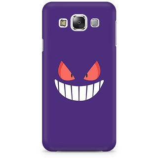 RAYITE Cute Devil Premium Printed Mobile Back Case Cover For Samsung E7