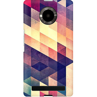 RAYITE Geometric Abstract Art Premium Printed Mobile Back Case Cover For Micromax Yuphoria