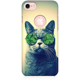 RAYITE Weed Lover Cat Preum Printed Mobile Back Case Cover For   7 With Round Cut