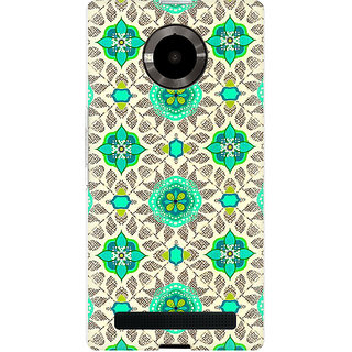 RAYITE Green Mandala Pattern Premium Printed Mobile Back Case Cover For Micromax Yuphoria