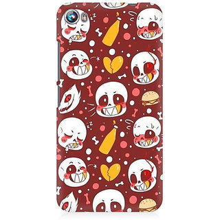 RAYITE Cute Skulls Premium Printed Mobile Back Case Cover For Micromax Canvas Fire 4 A107