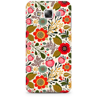 RAYITE Cute Flower Premium Printed Mobile Back Case Cover For Samsung E5