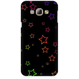 RAYITE Glowing Stars Premium Printed Mobile Back Case Cover For Samsung A8