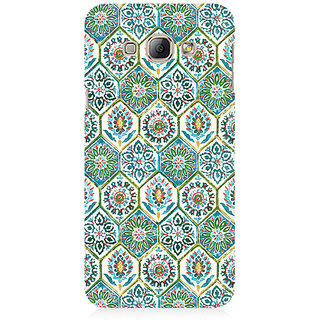 RAYITE Vintage Embroidery Pattern Premium Printed Mobile Back Case Cover For Samsung A8