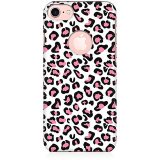 RAYITE Pink Cheetah Pattern Preum Printed Mobile Back Case Cover For   7 With Round Cut