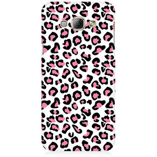 RAYITE Pink Cheetah Pattern Premium Printed Mobile Back Case Cover For Samsung A8