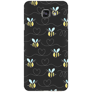 RAYITE Honey Bee Pattern Premium Printed Mobile Back Case Cover For Samsung A7 2016