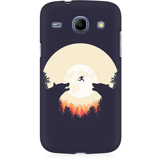 RAYITE Night Wolve Jump Premium Printed Mobile Back Case Cover For Samsung Core I8262
