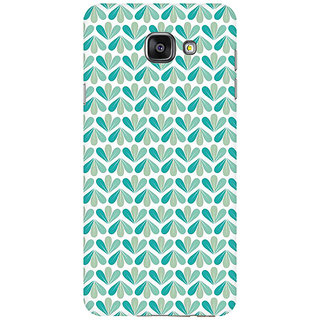 RAYITE LeafPattern Premium Printed Mobile Back Case Cover For Samsung A7 2016