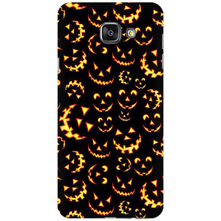 RAYITE Halloween Pattern Premium Printed Mobile Back Case Cover For Samsung A7 2016