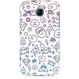 RAYITE Emoji Symbols Premium Printed Mobile Back Case Cover For Samsung Core I8262