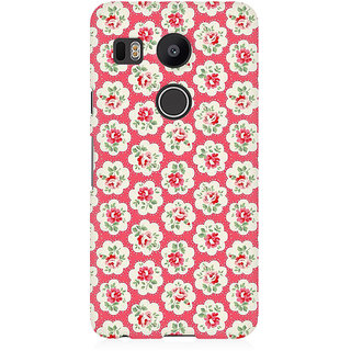 RAYITE Rose Flower Pattern Premium Printed Mobile Back Case Cover For LG Nexus 5X