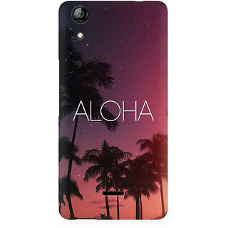 RAYITE Aloha Premium Printed Mobile Back Case Cover For Micromax Canvas Selfie 2 Q340
