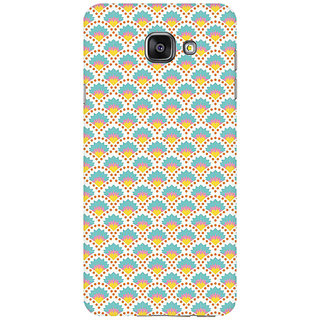 RAYITE Colourful Shell Pattern Premium Printed Mobile Back Case Cover For Samsung A7 2016