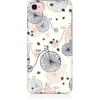 RAYITE Bicycle Pattern Preum Printed Mobile Back Case Cover For   7