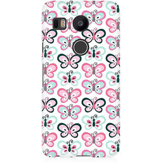RAYITE Butterflies Pattern Premium Printed Mobile Back Case Cover For LG Nexus 5X